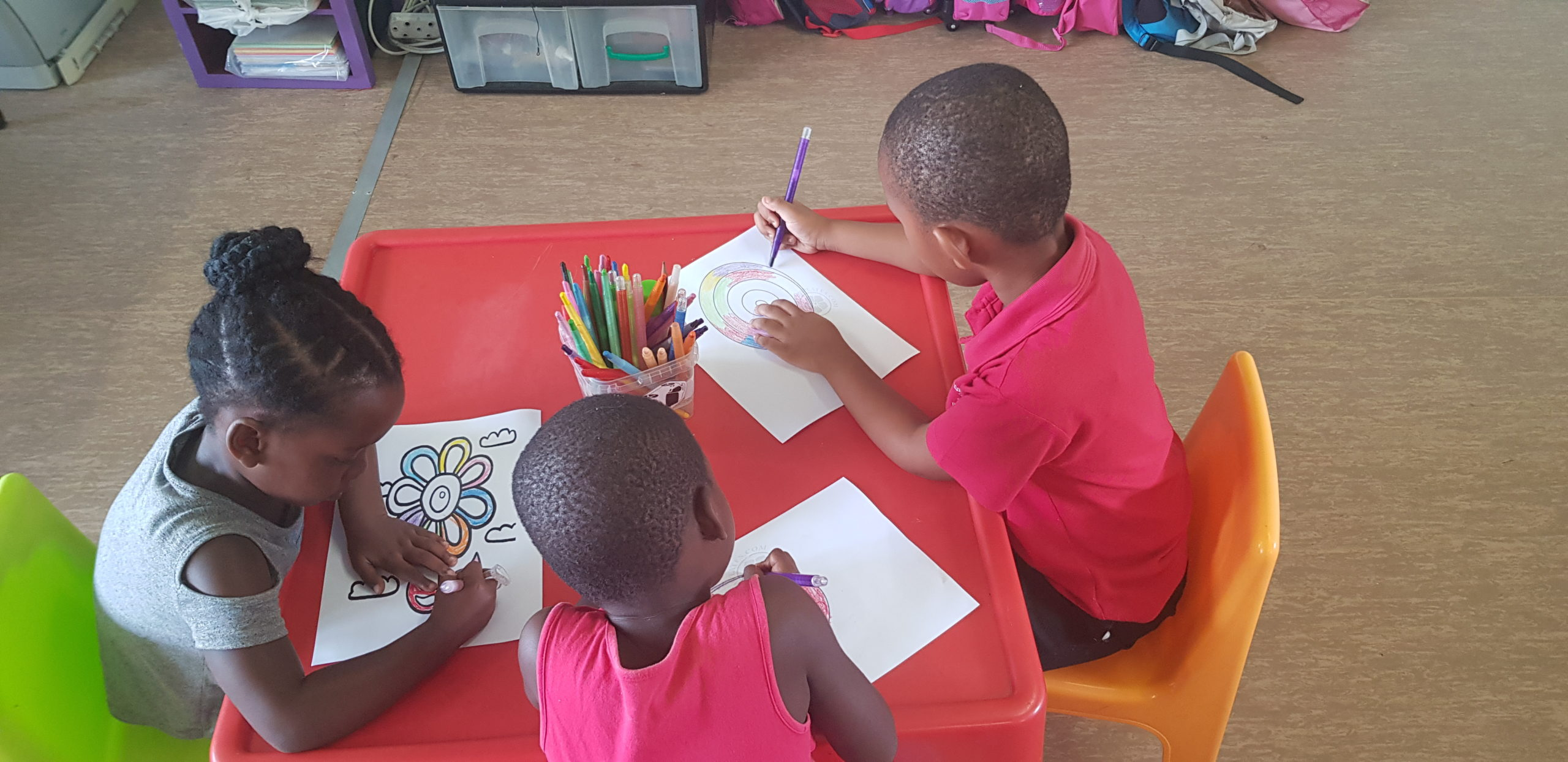 Children interacting at the Isithebe Day Care Centre